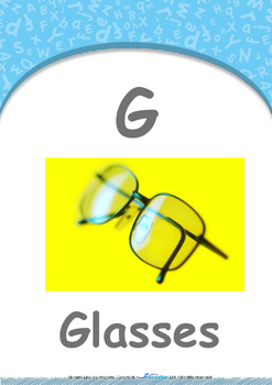 Food - Chopsticks (Marshmallows) : Letter G : Glasses - Nursery (2 years old)