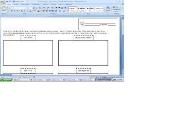 Food Classifying Worksheet