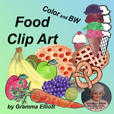 Food Clip Art    Fruits Vegetables Desserts Pizza and more Realistic Style