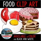 Food Clip Art- Hand Painted Watercolor Food Images!