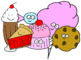 Food Clip Art - Meats and Sweets