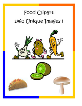 Food Clip Art Pack – 1460 unique PNG files