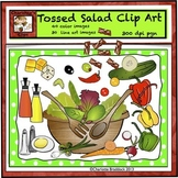 Food Clip Art - Fresh Vegetables for Tossed Salad by Charlotte's Clips