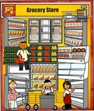 Grocery Store Clip Art by Charlotte's Clips