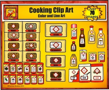 Food Clip Art - from Grocery Store for Cooking by Charlotte's Clips