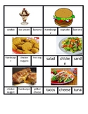 Food Clip Cards - Ordering at a Restaurant - Reading a menu