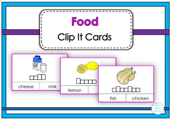 Food Clip It Cards