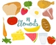 Food Clipart, Go, Grow And Glow  Foods For Commercial and Personal Use