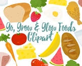 Food Clipart, Go, Grow And Glow  Foods For Commercial and