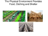 Food, Clothing, and Shelter are Provided by the Physical E