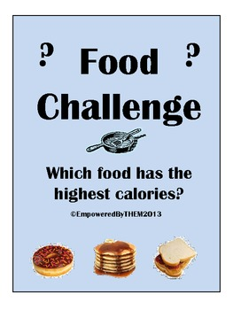 Food Comparison Flash Cards