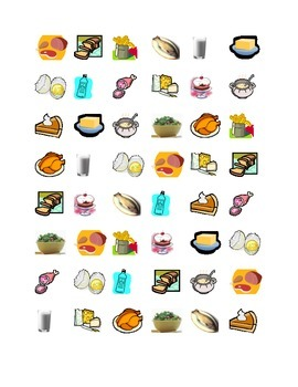 Food Connect the dots Squares game
