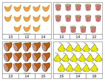 Food Clip Task Cards