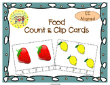 Food Count and Clip Task Cards