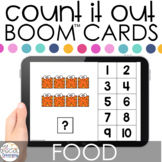 Food Count It Out Adapted Books Boom™ Cards: Distance Lear