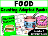 Food Counting Adapted Books {set of 5 books) Print and Digital