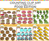Food Counting Clip Art Bundle