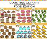 Food Counting Math Clip Art Bundle