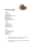 Food Court Math