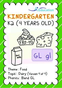 Food - Dairy (IV): Blend GL - Kindergarten, K2 (4 years old)