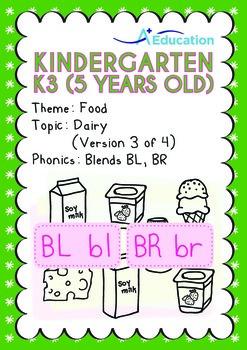 Food - Dairy (III): Blends BL BR - Kindergarten, K3 (age 5)