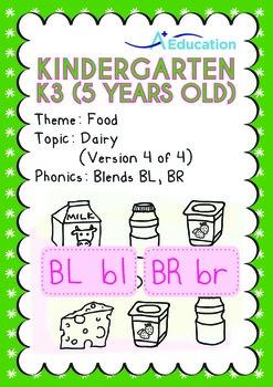 Food - Dairy (IV): Blends BL BR - Kindergarten, K3 (age 5)