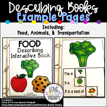 Food Describing Interactive Book
