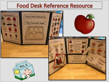 ELL Newcomers Food Desk Reference Folder and ESL Activities