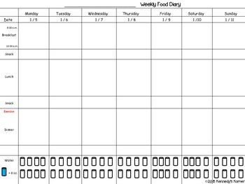Food Diary FREEBIE for January 2015