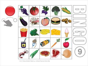 Food Digital Bingo