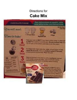 Food Directions Worksheet