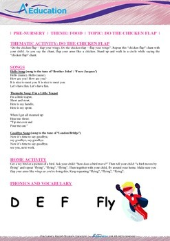 Food - Do the chicken flap! : Letter F : Fly - Pre-Nursery (1 year old)