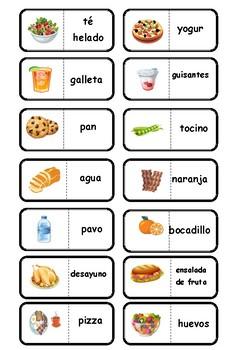 Food Domino game/ La comida game