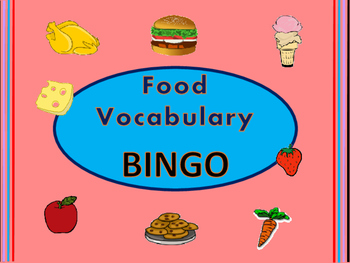 Food ESL BINGO- English Food Vocabulary