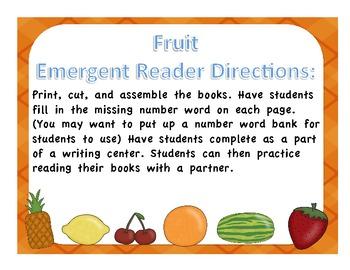 Food Emergent Reader Pocket Book for students