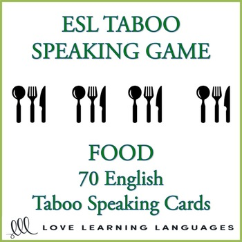 Food - English Taboo Speaking Game - ESL