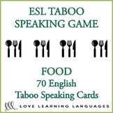 Food - English Taboo Speaking Game - ESL - ELL
