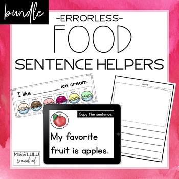 Food Errorless Sentence Helpers Bundle