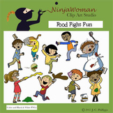 Food Fight Fun Clip Art