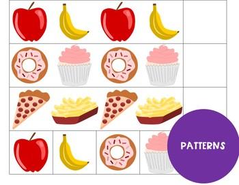 Food File Folder Games
