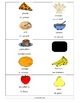 Food File Folder Word Walls and Flashcards in English/Spanish