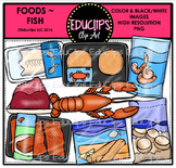 Food~Fish Clip Art Bundle {Educlips Clipart}