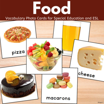 Food Vocabulary Photo Cards