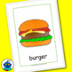 ESL Food Flash Cards. Apple, banana, pear, pear, cake, egg, cutlery, spoon...