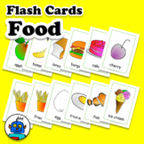 Food Flash Cards - Cutlery Vocabulary - Fruit and Vegetable ESL EFL Word Wall