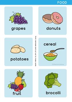 Food  - Flash Cards and Bingo - Word Wall - ESL/EAL