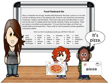 Food Flashcard Set (60 pages)