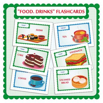 Food Flashcards. Drinks Flash cards.