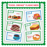 Food Flashcards. Drinks Flash cards.