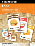 Food Flashcards / Set of 14 / Printable